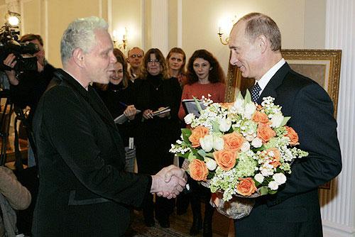 Владимир Путин поздравляет Бориса Моисеева с юбилеем