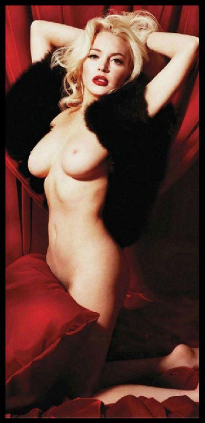 фото голая линси лохан