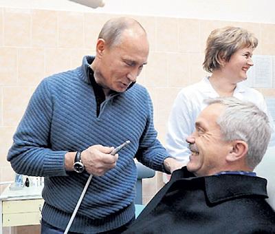 В порядке профилактики ПУТИН обещал просверлить все зубы губернатору Белгородской области Евгению САВЧЕНКО. Фото: РИА «Новости»