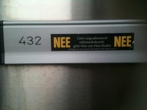 На почтовом ящике пентхауза подписано, что ни платную, ни бесплатную рекламную рассылку хозяева получать не желают
