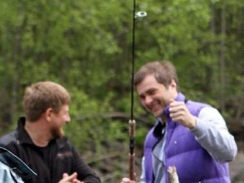Он прилетел в республику 18 мая и побывал на рыбалке вместе с президентом региона Рамзаном Кадыровым svoboda.org