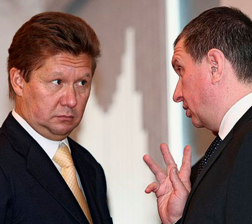 Алексей Миллер и Игорь Сечин. Фото КоммерсантЪ