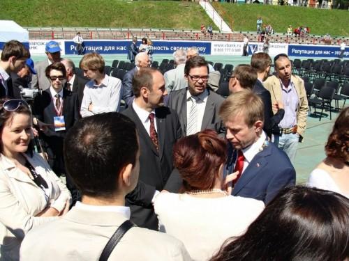 Блохин на инаугурации мэра, весна 2012