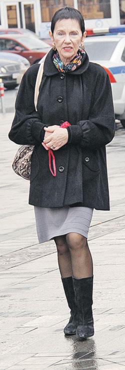 Тамара Владимировна Золотухина на днях вернулась с Алтая, где утвердила макет памятника. Фото: Борис КУДРЯВОВ («Экспресс газета»).