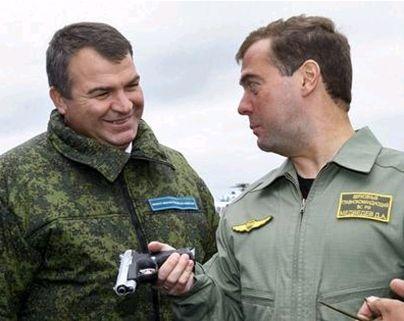 Анатолий Сердюков и Дмитрий Медведев