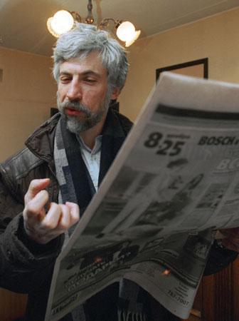 "Александр Минкин. Фото с сайта ""Новая газета"""