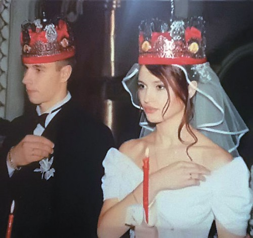 Юля и Денис. Венчание. Фото из семейного архива