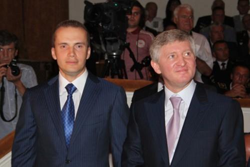 Александр Янукович и Ринат Ахметов Александр Янукович и Ринат Ахметов  Украинское Фото