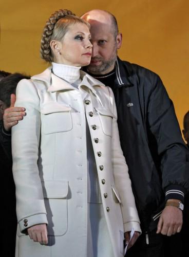 На фото: Юлия Тимошенко и Александр Турчинов (Фото: Андрей Федорук/Коммерсантъ)