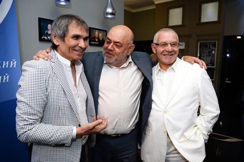 Продюсер Бари Алибасов, бизнесмен Юрий Каннер и коспозитор Александр Журбин