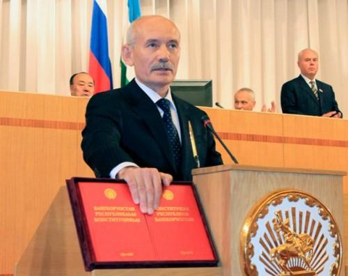 Президент Башкирии Рустем Хамитов на церемонии инаугурации. Фото: ИТАР-ТАСС / Андрей Старостин