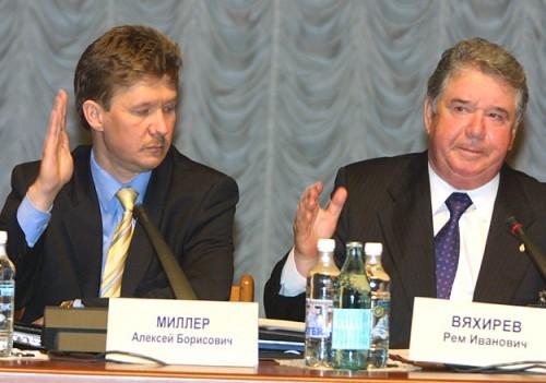 И при Реме Вяхиреве (на фото справа), и при Алексее Миллере (слева) у топ-менеджеров «Газпрома» появлялись успешные родственники-бизнесмены Фото: PhotoXPress