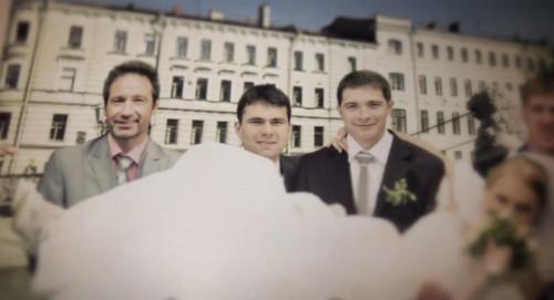 Духовны в образе свидетеля на российской свадьбе