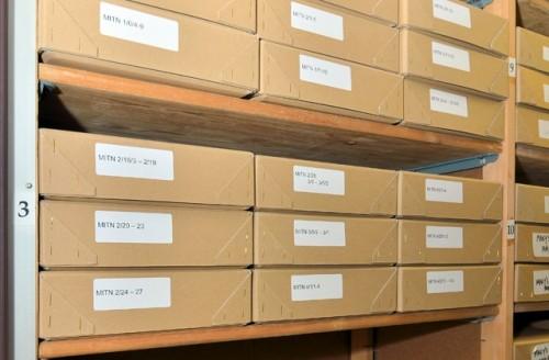 Стелажи с архивами Митрохина. Фото: Churchill Archive Centre / AP