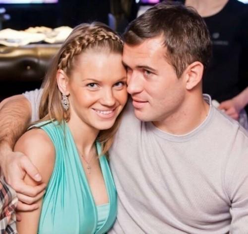 Александр Кержаков с гражданской женой Екатериной Сафроновой