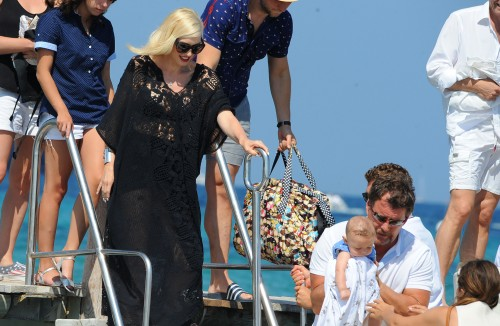 Gwen Stefani and her family seen at Club 55 in St. Tropez, France