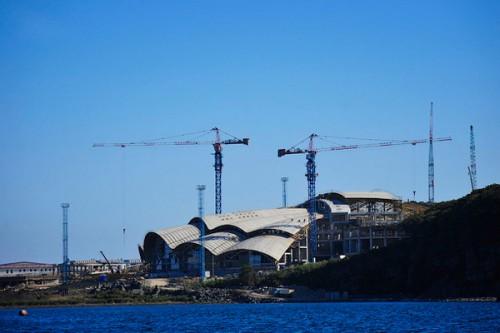 Строительство океанариума на острове Русский. Фото: vl.ru