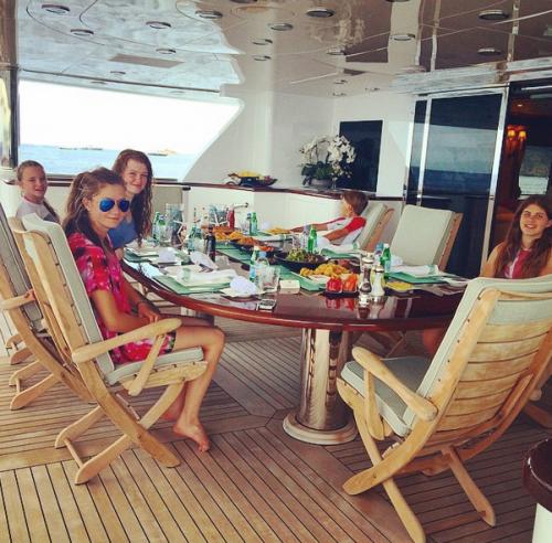 Каждое утро Ирина собирала Софью, Анну, Аркадия, Арину и Илью за завтраком на яхте