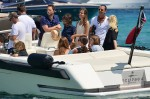 Gwen Stefani and his family at Club 55 at Saint-Tropez - France