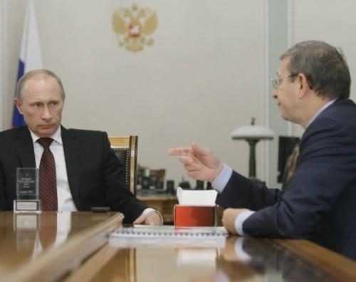 Владимир Путин c Владимиром Евтушенковым. Фото: Алексей Никольский / РИА Новости