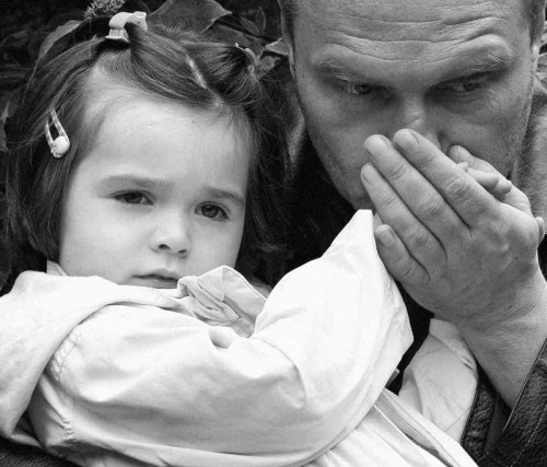Актер Александр Балуев с дочкой Машей. Фото с сайта mrk-gallery.ru