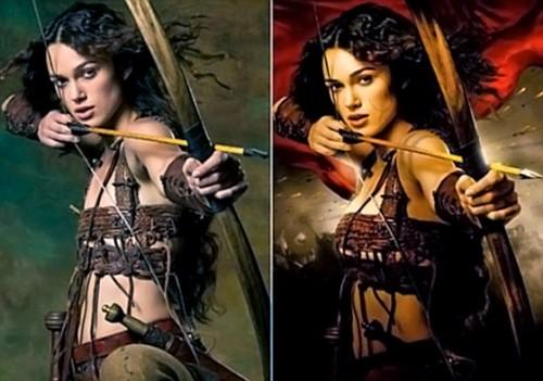 В Сети появились оригинальные фотографии постера с Кирой Найтли без ретуши. На снимках «до и после» отчетливо было видно работу фоторедактора: актрисе уменьшили живот и значительно увеличили грудь