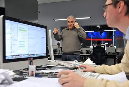 Арам Габрелянов в офисе Life News Фото: Артем Житенев / РИА Новости