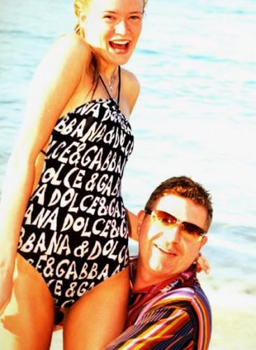 Г-н Рожецкин и его жена на Рождество на Карибских островах