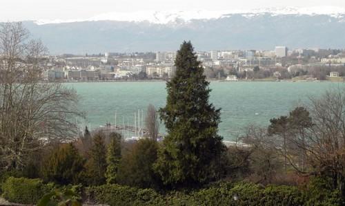 Вид на Женевское озеро со стороны дома Геннадия Тимченко.