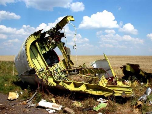 Место крушения самолета Боинг-777 в Донецкой области, 23 июля 2014 года. Фото Russian Look