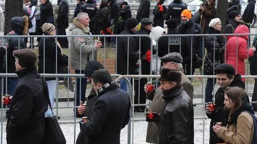 В Москве в центре им. Сахарова прошло прощание с Борисом Немцовым, который был застрелен вечером в пятницу, 27 февраля. Фото: Юрий Мартьянов / Коммерсантъ