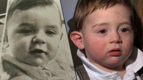 Борис Немцов в детстве (слева) и 11-месячный Борис Ифтоди