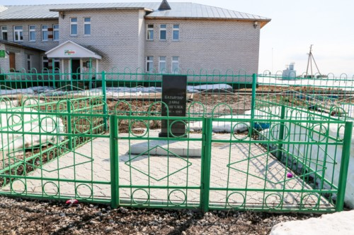 Меорила, который стоит на месте снесенного памятника на сегодняшний день. Фото: prokazan.ru