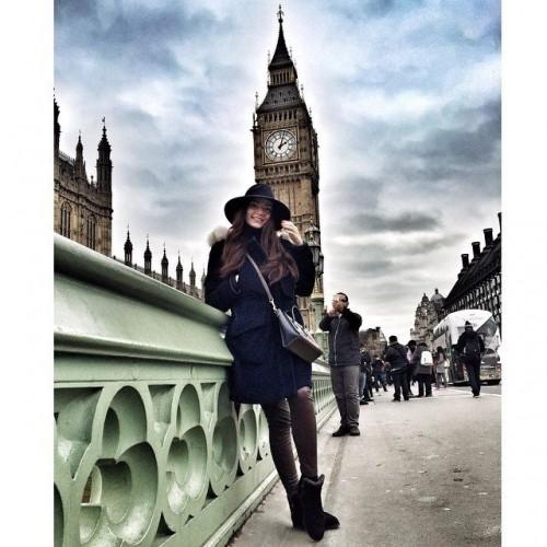 Младшая дочь главного гаишника страны Дарья Ершова в Лондоне. Фото: Соцсети