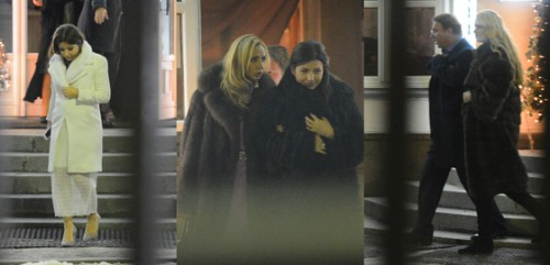 Галина Юдашкина, Татьяна Навка и певица Жасмин, Владимир Кожин с супругой Олесей Бословяк