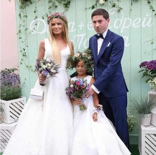 Дана Борисова с мужем Андреем Трощенко и дочерью Полиной