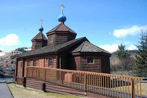 Кадьяк. Церковь Воскресения Христова- первый православный храм в Русской Америке.