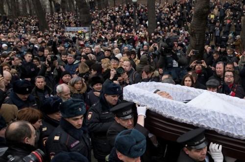 Похороны Бориса Немцова, застреленного в Москве