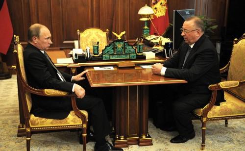 Встреча Владимира Путина и Николая Токарева, июнь 2015 года