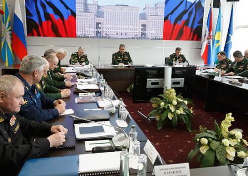 Под руководством Министра обороны России генерала армии Сергея Шойгу прошло выездное заседание Коллегии военного ведомства