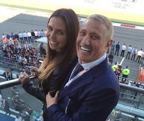 Карина Ротенберг с мужем Борисом на «Формуле-1» в Сочи (2016)