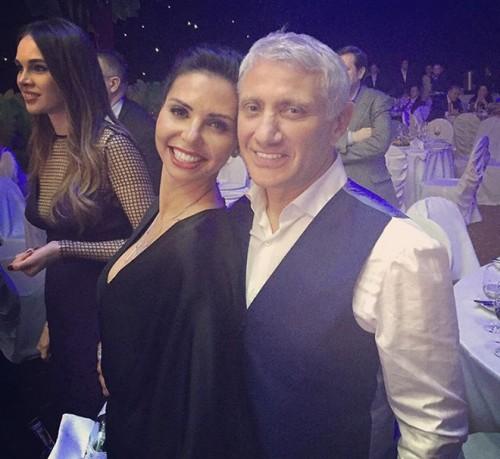 Карина Ротенберг с мужем Борисом на дне рождения друзей (2016)