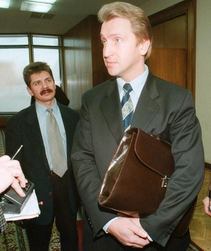 Глава Российского фонда федерального имущества Игорь Шувалов, 24 ноября 1998 года Фото: Дмитрий Духанин / «Коммерсантъ»