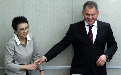 Лариса Шойгу и Сергей Шойгу. Фото: © РИА Новости/Владимир Федоренко