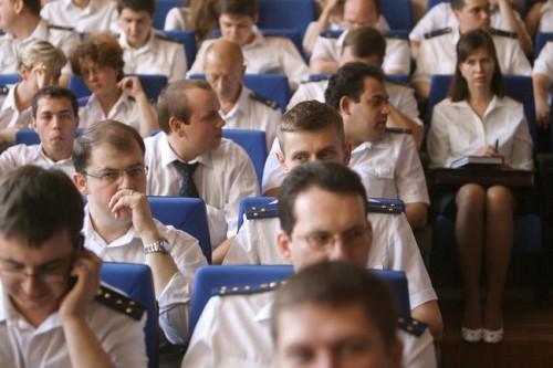 Заседание коллегии СК по Москве, когда комитет еще был частью Генеральной прокуратуры. Москва, июль 2008 года Фото: Дмитрий Лекай / «Коммерсантъ»