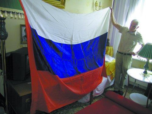 Алексей Сальников с тем самым флагом. Фото: Алексей Богомолов
