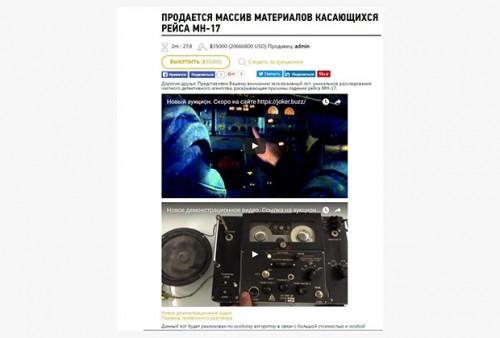 Массив данных по сбитому в Донбассе Boeing обойдется покупателю в 10 миллионов долларов