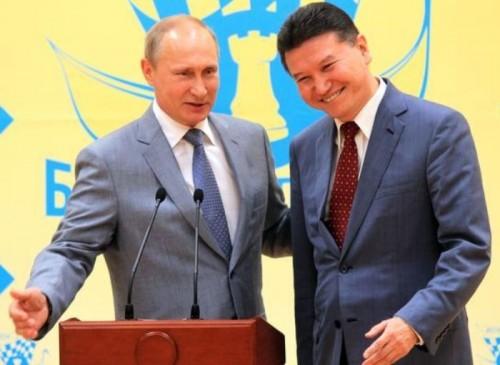 Кирсан Илюмжинов и Владимир Путин