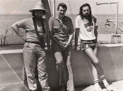 Сергей Саркисов с музыкантами Стасом Наминым и Сергеем Вороновым в Гаване (1989)