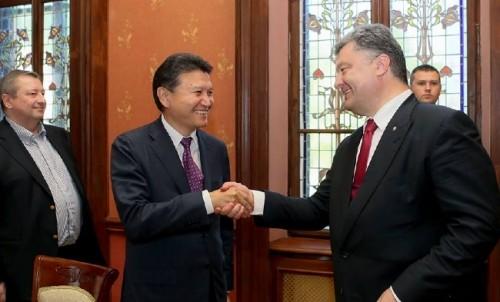 Кирсан Илюмжинов и Петр Порошенко